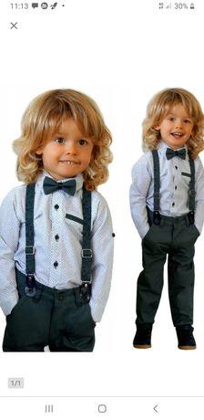 Komplet wizytowy elegancki garnitur r.86 stan idealny