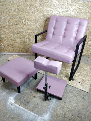 Педикюрний набір, педикюрне крісло, педикюрное кресло, ЛОФТ, пуфик