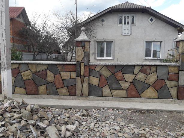 Паркан, мангал, облицювання фундаменту та інші роботи з каменю
