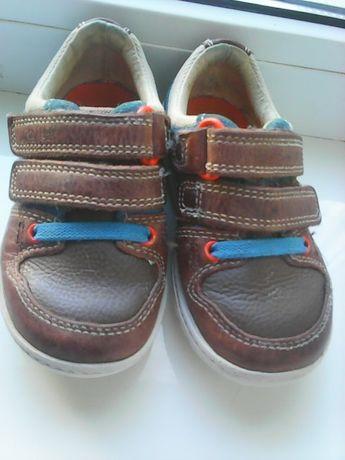 Милые кожаные кроссовочки малышу 13 см стелька