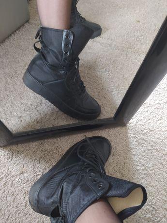 Buty damskie adidasy za kostke czarne 40