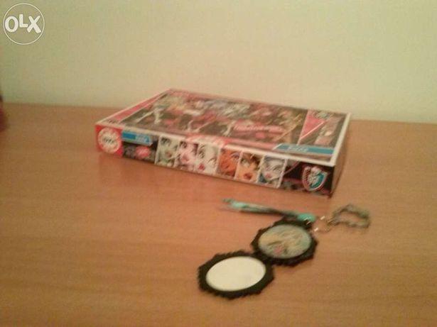 """Puzzle """"Monster Hight"""" 200peças+ Porta-chaves espelho"""