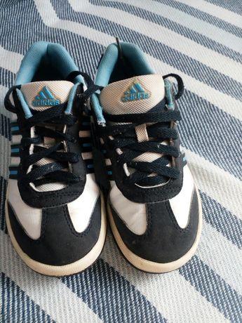 Buty sportowe Adidas biało-niebiesko-granatowe, rozmiar 31 (19cm)