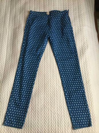 Spodnie jeansowe 38 na gumkę i zamek