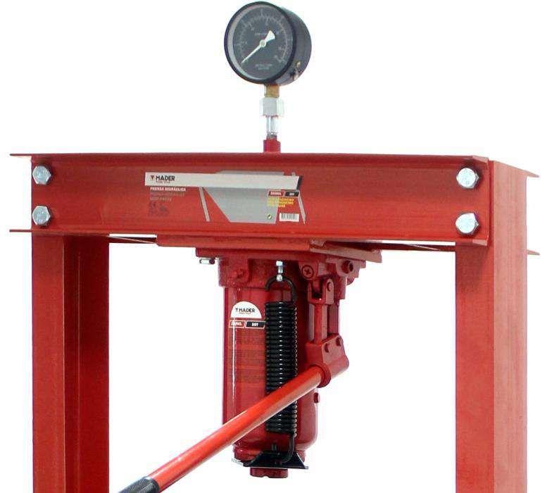 Prensa Hidráulica de coluna c/ capacid. 20 toneladas c/ Manómetro Aveiro - imagem 1