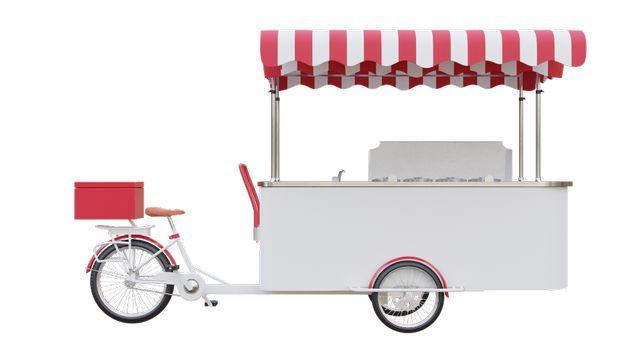 Rower gastronomiczny do lodów | Mobilna gastronomia