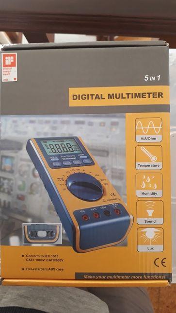 Multimetro 5 em 1 usado, super estimado em caixa.