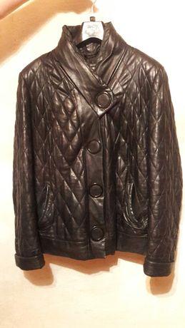 Кожаная куртка женская осенняя- утеплённая . Б.У.