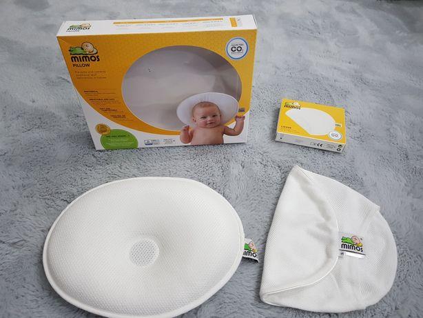 Poduszka dla niemowlaka ortopedyczna Mimos r. S + biała poszewka