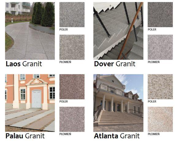 Schody Płyty Kamienne Granitowe Kamień Naturalny Granit Taras Stopnie