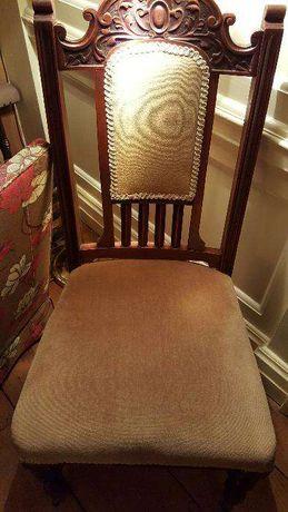 Krzesła wiktoriańskie dębowe Anglia 6 sztuk