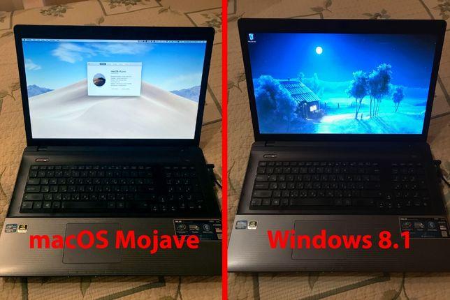 18,4 дюйми ASUS К95 - працює під Windows (ліцензія) та macOS Mojave!!!