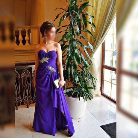 Вечернее выпускное платье GiGi со шлейфом