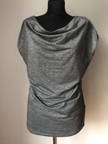 Bluzka srebrna orsay L 40 brokat