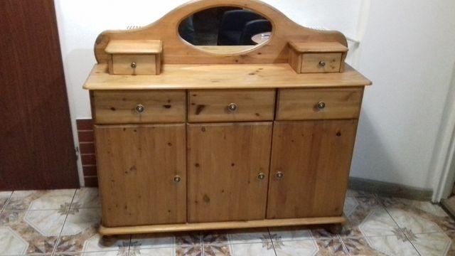 Komoda sosnowa sekretarzyk toaletka szafka szafa
