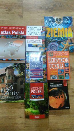 Książki, leksykon, album, atlas, słownik