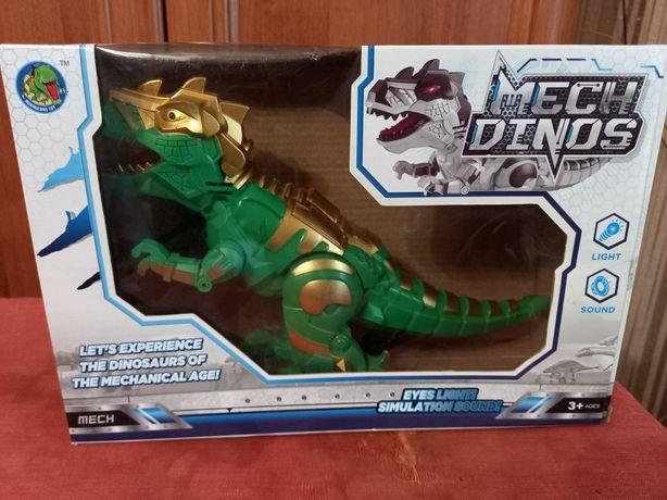 Динозавр іграшка на батарейках