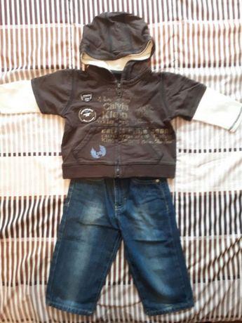 Zestaw dżinsy i bluza Calvin Klein Jeans 18 miesięcy