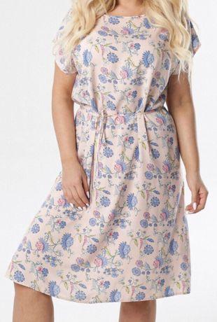 Lekka sukienka w kwiaty, Plus size
