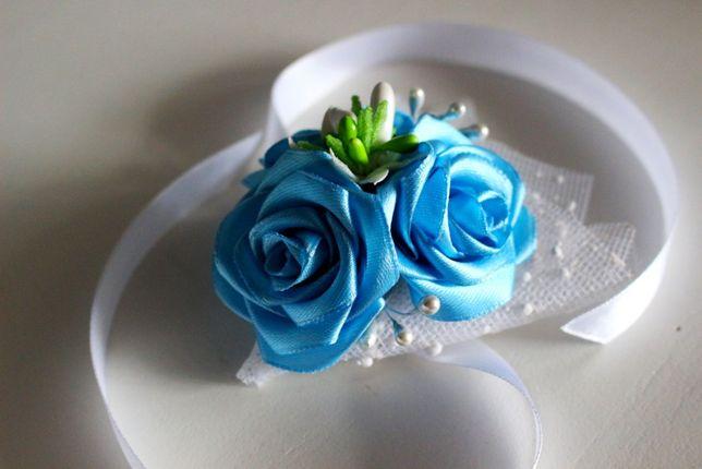 Róża na rękę, kotylion, bal, studniówka, ślub