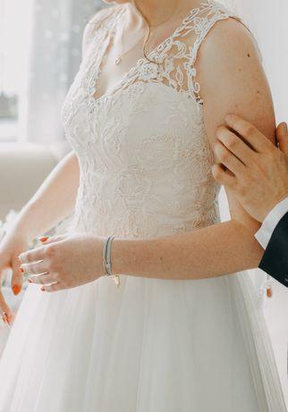 Suknia ślubna Ivory r.38, linia A