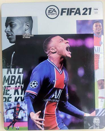 FIFA 21 steel case ,metalowe ozdobne opakowanie na grę