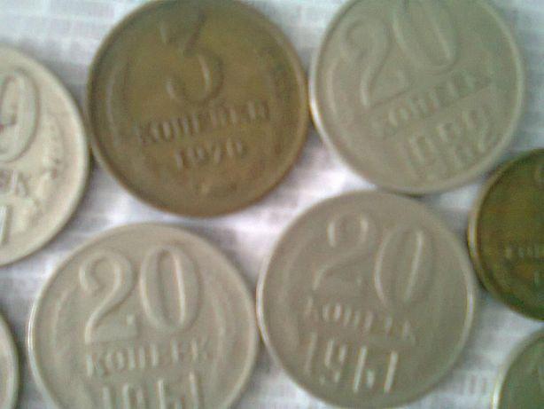 Продам копійки СРСР різного номіналу різних років.