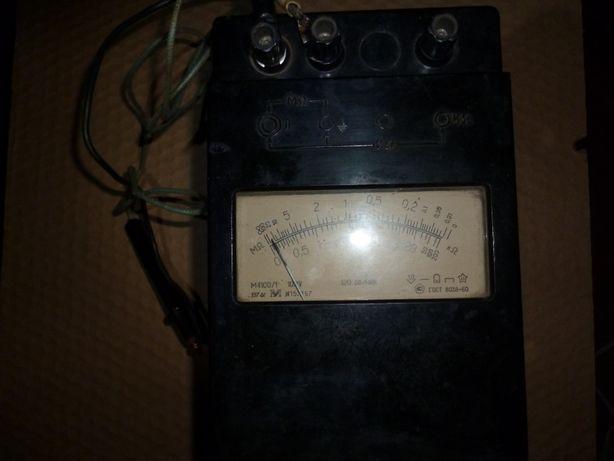 М4100/1 Мегаомметр прибор СССР авиационный для автомобиль тепловоз