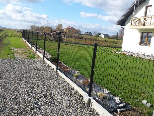 kpl ogrodzenie panelowe 48,65zł metr bieżacy panel h 123 + podmurówka