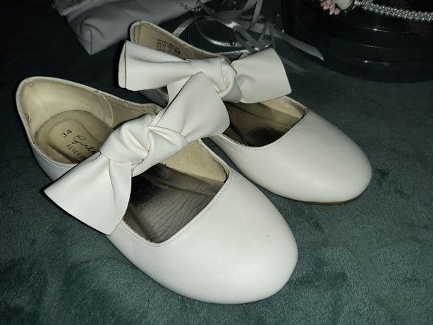 baleriny reserved 34 buty komunia ślulb wesele okazja