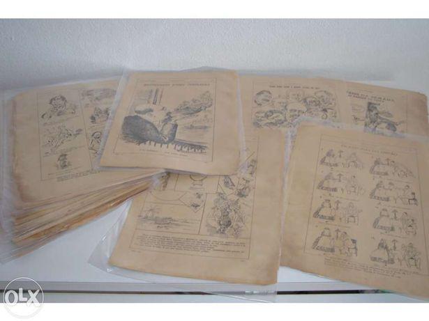 """Vendo/Troco lote """"António Maria"""" c/ ilustrações de Bordallo Pinheiro"""