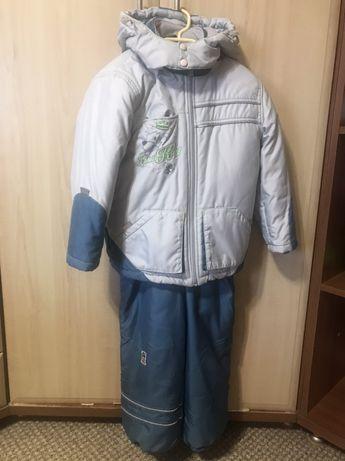 Продам теплую зимнюю куртку и комбинезон BEMBI