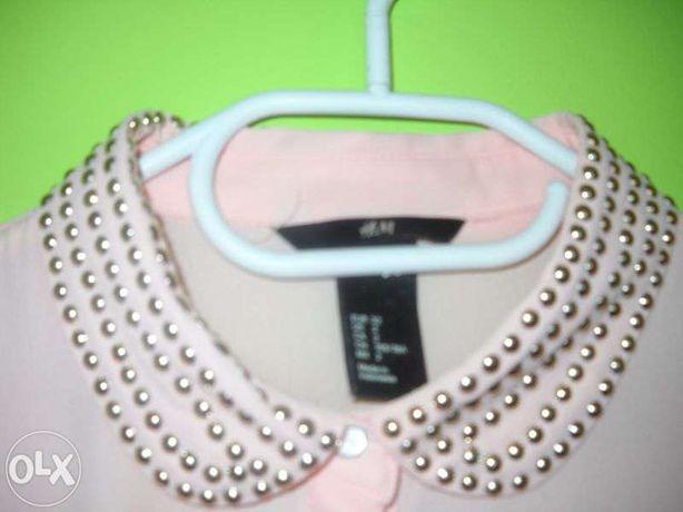 Śliczna pudrowa bluzeczka H&M XS