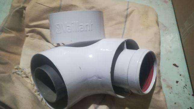 Отвод 80/125 87* доя кондесационного газового котла Vaillant