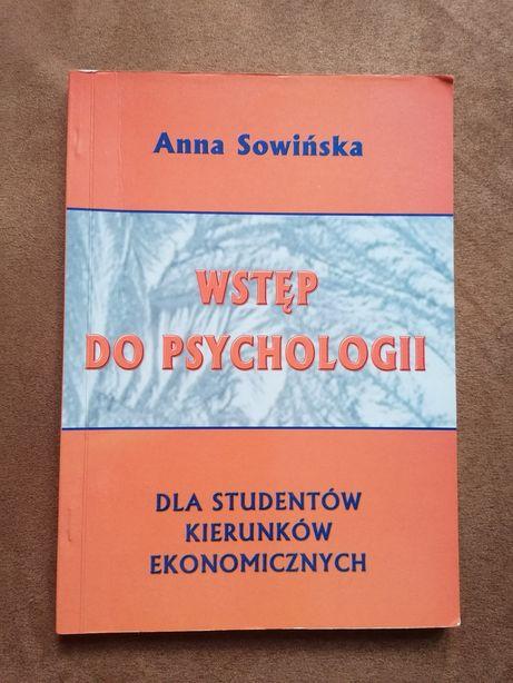 """Anna Sowińska """"Wstęp do psychologii"""""""