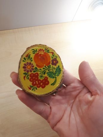 Магнитик на холодильник, Петриковская роспись, ручная работа