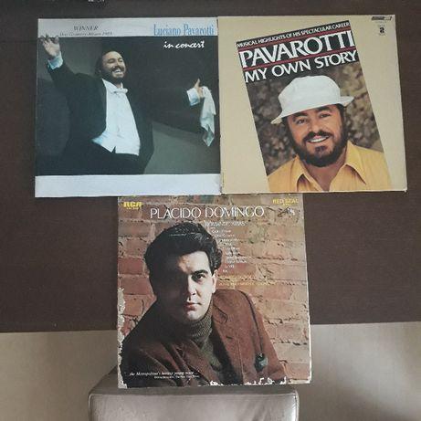 Placido Domigo - Luciano Pavarotti -płyty winylowe, vinyl, arie, opera