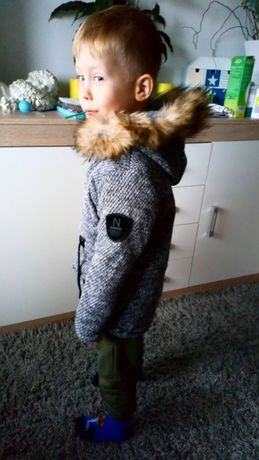 Wyprzedaż Nowa kurtka dla chłopca dziewczynki uni zimowa płaszcz 4 lat