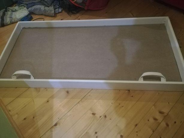 Biała wysuwana szuflada łóżeczka skrzynia na kółkach wysuwane łóżko