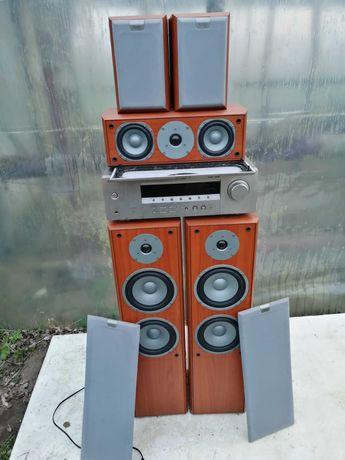Amplituner kina domowego Yamaha rx-v357 plus 5 kolumn Discovery.