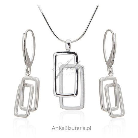 ankabizuteria.pl Komplet biżuteria srebrna rodowana