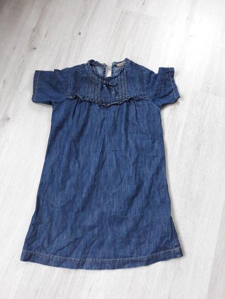 Jeansowa Sukienka /tunika Next dla dziewczynki 9-10lat