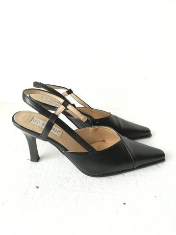 Szpilki buty na obcasie z otwartą piętą