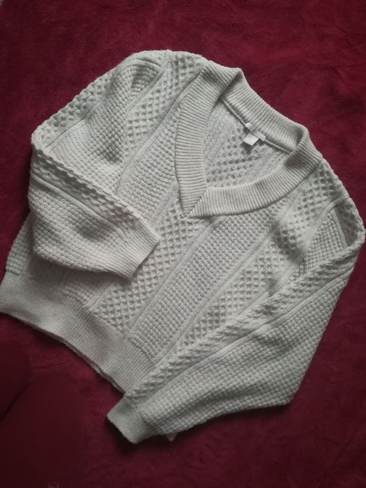 Sweter sweterek r. M H&M dekolt gruby ciepły oversize Wrocław - image 1