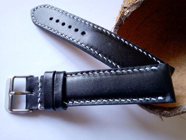 Шкіряний ремінець до годинника 22 мм.