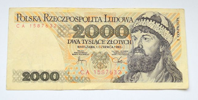 banknot 2000zł Mieszko I Bolesław Chrobry