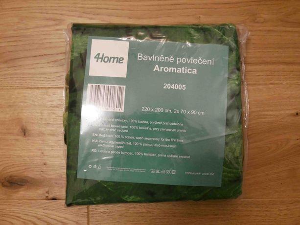 Nowa pościel bawełniana 4home Aromatica 220 x 200 cm, 2 szt. 70x90 cm