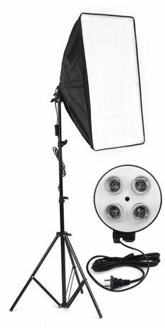 Kit softbox / difusor / projetor luz