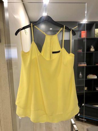 Blusa amarela de alças M/L
