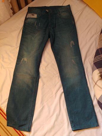 Turkusowe spodnie męskie